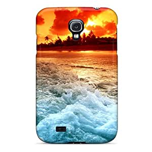 Durable Defender Case For Galaxy S4 Tpu Cover(hd Ocean)