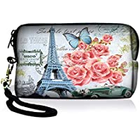 SpecialBag Eiffel Tower and Flowers Digital Camera Case...