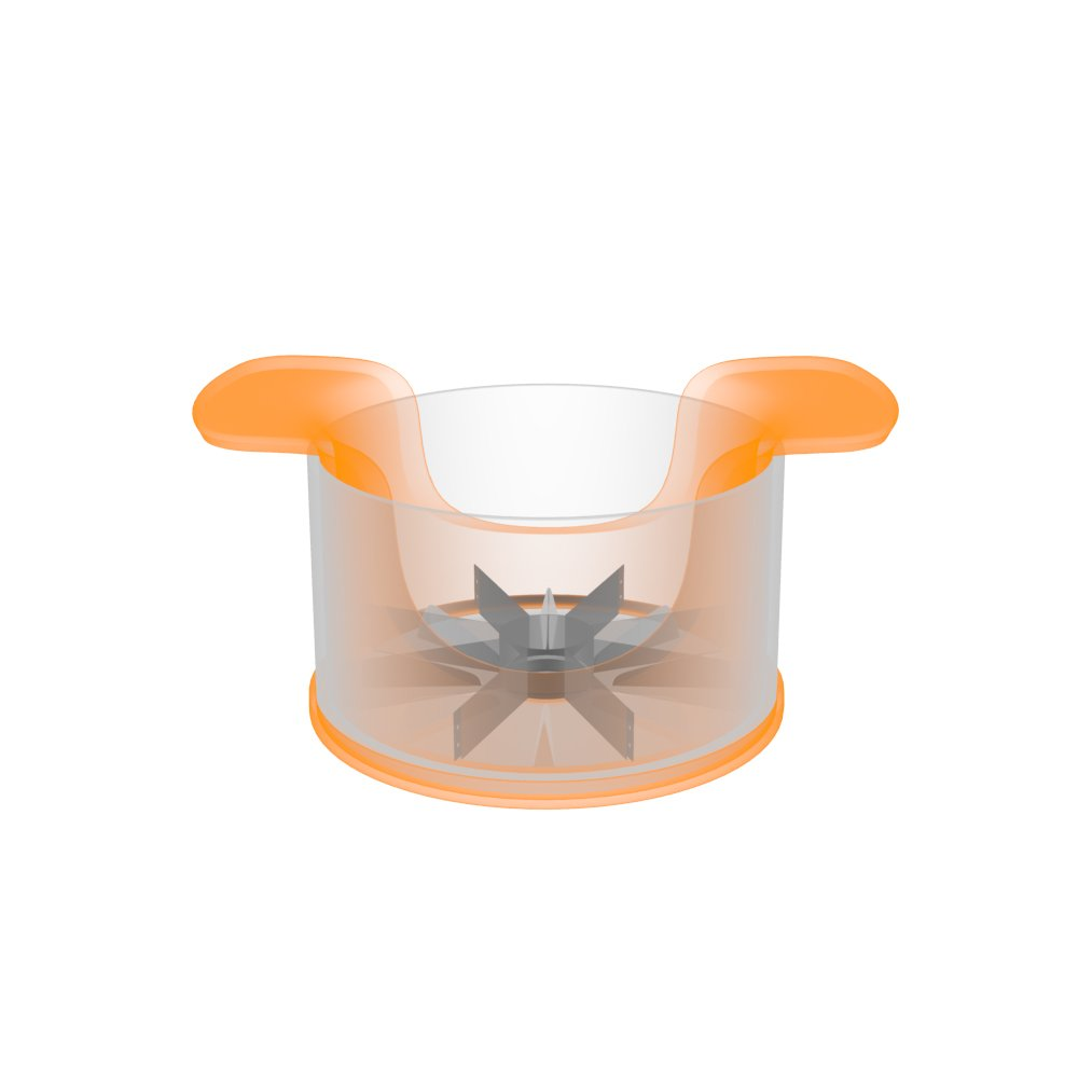 1016132 Fiskars Apple Divider 16.4 x 12.7 x 7.8 cm White//Orange Synthetic Material//Steel Functional Form With Container