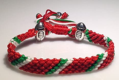 Handmade to order Marys Terrace Rugby Ropes a Present they will love. Ideal Rugby Themed Gift for any Rugby Supporter All Kit Colours available a Sporting Accessory for any Rugby Fans