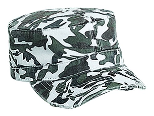 Camouflage Superior Garment Washed Cotton Twill Visor Military Style Caps