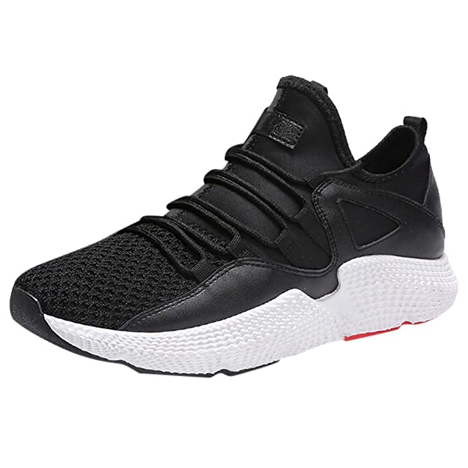 Hombre Zapatos Del De Para Hombre Casuales Running Con Ligeras Zapatillas  Cordones Malla Transpirables Volando Tejidos EPqwcTgC 0b14eccf6b29