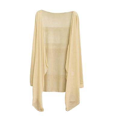 57aa90296b96 Pagacat Femmes d été Long Cardigan mince Modal Sun Protection Vêtements  Tops