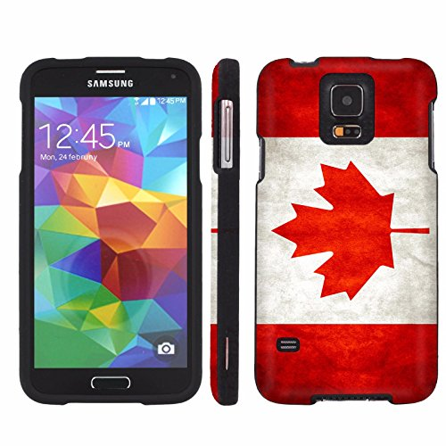 Mobiflare Slim Guard Armor Design Case for [Samsung Galaxy S5] - Flag of Canada