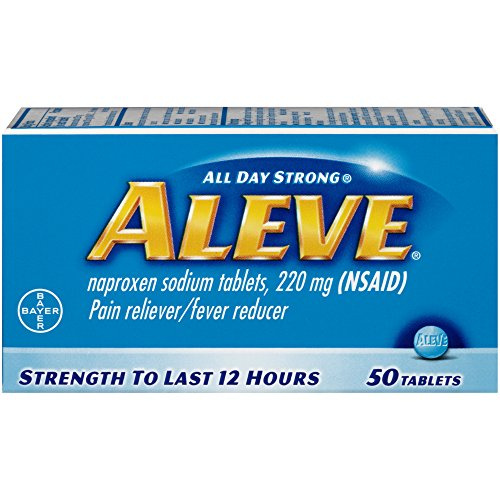 Aleve Pain Reliever/Fever Reducer Tablets, 50 ea by BAYER CORPORATION