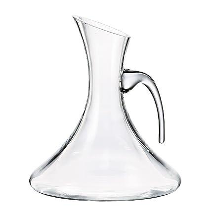 Decantador de vino (cristal de Bohemia hecho a mano – Contenance de 1250 ml –