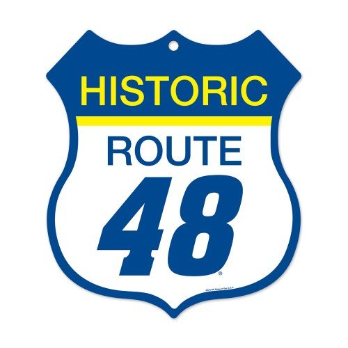 WinCraft Jimmie Johnson NASCAR Historic Route 48, 11 x 10-inch Plastic Sign