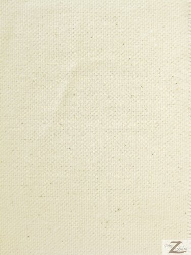 100% COTTON CANVAS 10oz FABRIC - Ivory - 50 YARDS ROLL 60'' WIDTH