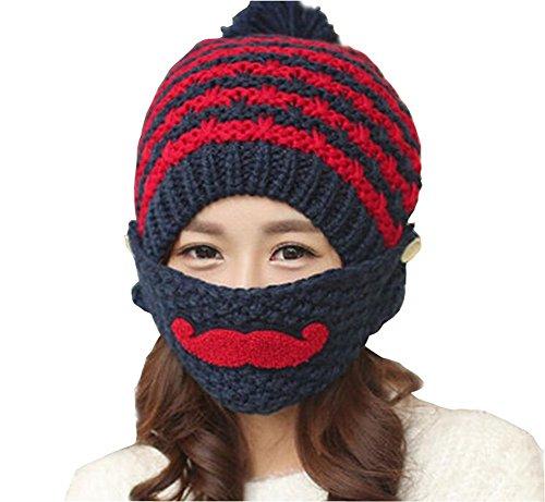 Women Ladey Girls Winter Ear Protection Woolen Yarn Knitting Cap Warm Hat (Cap Knitting Pattern)