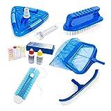 Premium Inground Above Ground Pool Cleaning Vacuum Maintenance Accessories Kit