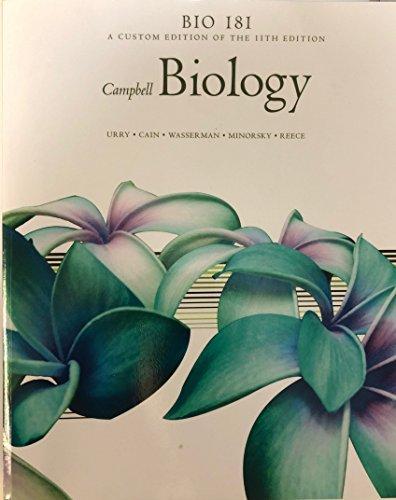 Bio 181 Custom 11th Edition Campbell Biology -  Reece, Paperback
