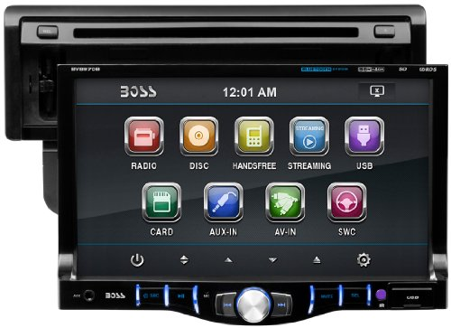 BOSS Audio BV8970B Single Din, Touchscreen, Bluetooth, DVD/CD/MP3/USB/SD AM/FM Car Stereo, 7 Inch Digital LCD Monitor, Detachable Front Panel, Wireless Remote, Multi-Color Illumination by BOSS Audio (Image #5)