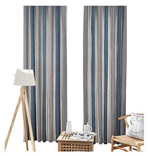 Joint Stripe - BW0057 Modren Simple Style Stripe Joint Window Curtain Rod Pocket Top Window Decoration Curtain Panel for Living Room Bedroom Kids Room-001(2 Panels, W 50 x L 84 inch, Gray)