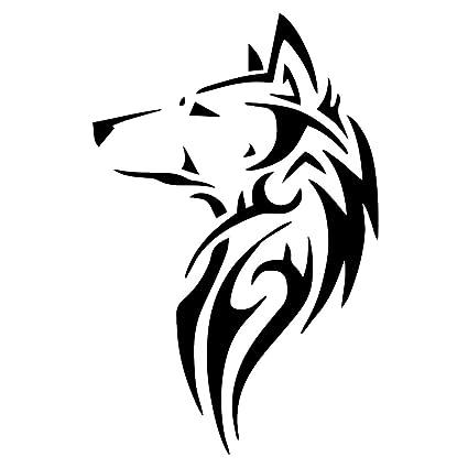 Amazon.com: Tribal Wolf Silhou...