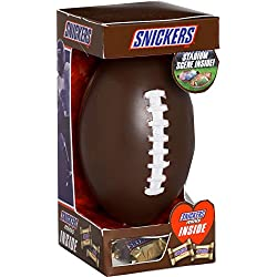 Snickers Candy Bar Valentines Day Football Tin with Chocolate Minis, 1.9 oz