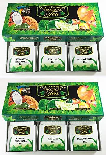 2-pack Tropical Flavored Tea Assortment: Mango Peach, Key Lime & Coconut Macadamia (36 tea bags).