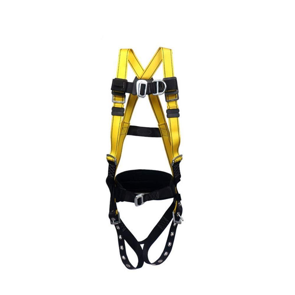 Nekovan フルボディハーネス登山航空作業電気技師クライミング用品落下防止 (色 : イエロー)  イエロー B07R1XTL4Y