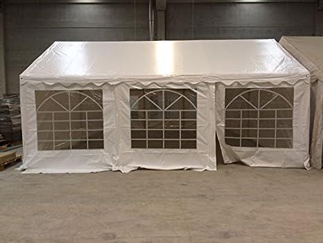 Carpa 6x4 PVC 500 gr blanca con ventanas para restaurentes y bares ...