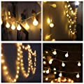 Naisidier 100 LED String Lights 33ft Warm Color for Garden Party and Holiday Decoration