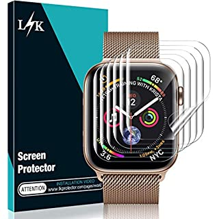 [6 Pack] L K Screen Protector for Apple Watch 40MM Series 5/4 , [Full Coverage] [Self Healing] Bubble Free for iWatch 40MM HD Clear Flexible TPU Film