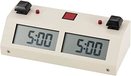 BUTTON White with Carrying Bag Chronos GX Digital Game Chess Clock