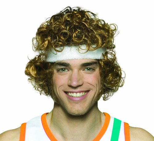 Rasta Imposta Semi-Pro Wig Costume, Brown, One Size (Jackie Moon Halloween Costume)