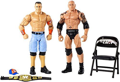 WWE Hall of Champions John Cena vs. Batista Action Figures, 2 Pack ()