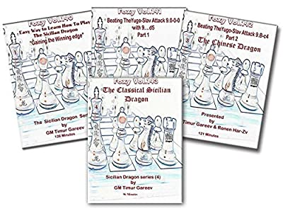 FOXY OPENINGS - The Sicilian Dragon Series Complete Set - Volumes 1-4 Instructional Chess DVD