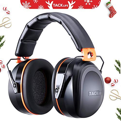 - Noise Reduction Ear Muffs, Tacklife NRR 28dB Shooters Hearing Protection Ear Muffs, Adjustable Headband, Noise Cancelling Headphones for Kids and Adults - HNRE2