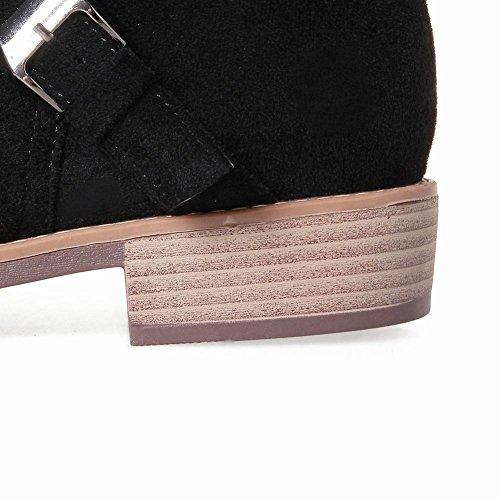 Mee Shoes Damen Niedrig runde warm gefüttert kurzstiefel Schwarz