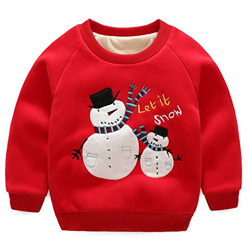 FACOCO Christmas Print Couple Sweater Ugly Pullover Long Sleeve Pullover
