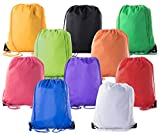Mato & Hash Basic Drawstring Tote Cinch Sack Promotional Backpack Bag | 15 Colors | 1PK-100PK Available