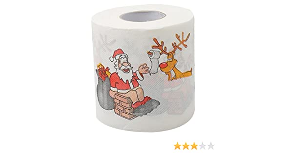 Amazon.com: Iumer Santa Claus Elk Toilet Paper For Merry Christmas Table Decoration: Home Improvement
