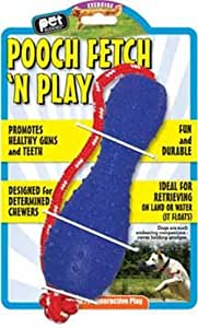 Pet Buddies PB1125 Pooch Fetch N Play TPR Toy with Nylon Rope