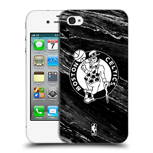 Official NBA B&W Marble Boston Celtics Hard Back Case for Apple iPhone 4 / 4S