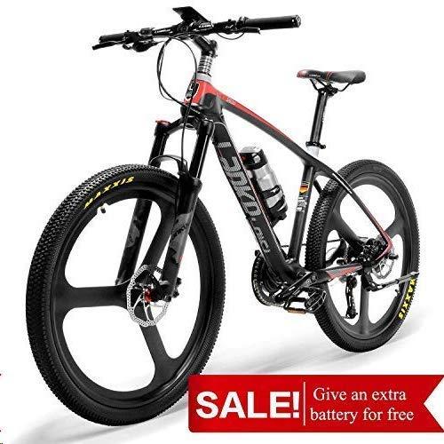 ZDDOZXC S600 Super-Light 18kg Carbon Fiber Mountain Bike PAS Electric Bicycle with Shimano Altus Hydraulic Brake (Hydraulic Brakes For Mountain Bike For Sale)