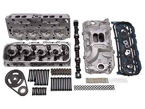 Edelbrock 2024 Power Package Top End Kit 354 HP Incl. Performer RPM Intake/E-Street Heads/Performer Camshaft And Lifters/Timing Chain/Gasket Set/Bolt Kits Chevy Big Block Power Package Top End Kit