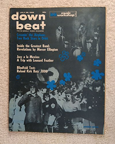 Jefferson Airplane & Cream - Down Beat Magazine - July 25, 1968 - Jazz - No Address (Airplane Address Label)
