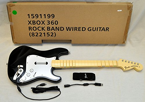 Harmonix OFFICIAL Rock Band 1 Wired Fender Stratocaster Guitar Controller for Xbox 360, Black