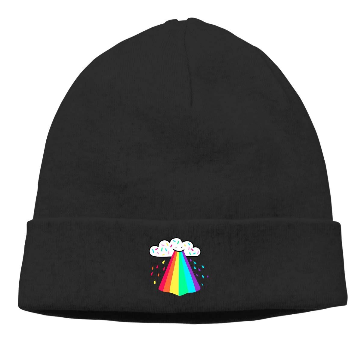 Rainbow Blast Men Winter Summer Lightweight Casual Knit Cap Skully