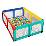 Playpens Play Yard 8 Panel Portable Baby, Kids Activity Center with Balls and Mat, Indoor Outdoor Children Toddler Security Fence Toy House, Height 70cm (Size : 150×190cm)