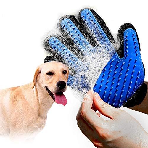 HCPET [Upgrade Version Pet Grooming Glove Efficient 5 Finger Design Pet Hair Remover Mitt-Gentle&Soft Massage...