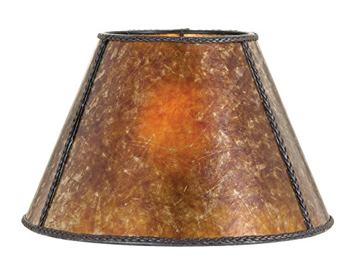 B&P Lamp Antique Amber, 6 12 7.5, Uno, Flush, (5) by B&P Lamp