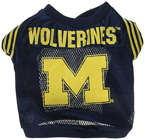 NCAA Michigan Wolverines Football Dog Jersey, Small Michigan Dog Pet Varsity Jacket