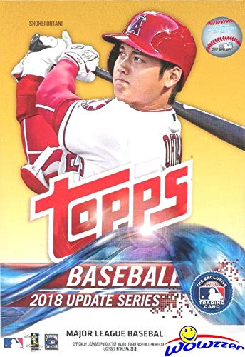 2018 Topps UPDATE MLB Baseball EXCLUSIVE HUGE Factory Sealed Hanger Box with 72 Cards including (2) Legends in the Making Insert Cards! Look for RC & Auto's of Juan Soto, Shohei Ohtani & More! WOWZZER