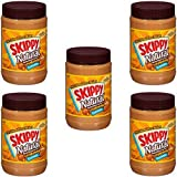 Skippy Natural Creamy Peanut Butter Spread with Honey 40 oz. Plastic Jar - 5 Bottles