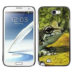 TopCaseStore / la caja del caucho duro de la cubierta de protección de la piel - Frog Yellow Nature Forest - Samsung Galaxy Note 2 N7100