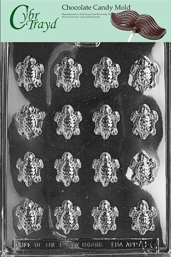 Cybrtrayd Life of the Party A020 Tiny Turtles Chocolate Candy Mold in Sealed Protective Poly Bag Imprinted with Copyrighted Cybrtrayd Molding Instructions