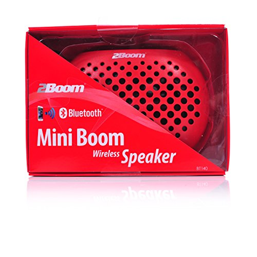 2BOOM Mini Boom Portable Mini Bluetooth iPod Wireless Speaker Red