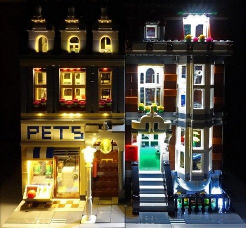 [해외] LEGO 레고 creator 10218 호환 애완동물 샵LED 라이트 키트